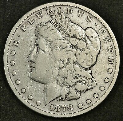 "1878-s Morgan Silver Dollar.  VAM 57 ""Long Nock"".  139732"