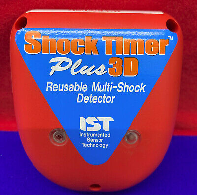 Ist Instrumented Sensor Shock Timer Plus 3D Reusable Multi-Chock Detector - Used