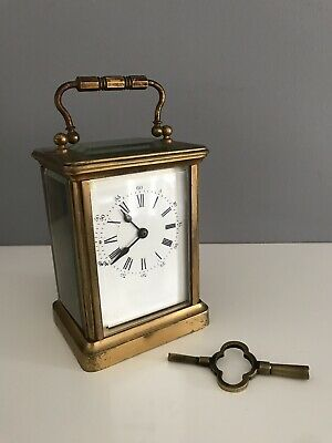 Antique French 8 Day Carriage Clock With Key