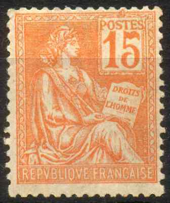 FRANCE 1900 - MOUCHON TYPE II 15 Cts MNH