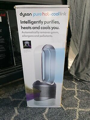 Dyson Pure Hot + Cool Link HP02 Wi-Fi Enabled Air Purifier, White/Silver - NEW