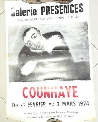 affiche exposition charle counhay 1974 42sur60cm