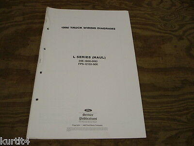 1990 Ford L-series Haul 7000 8000 wiring diagram schematic SHEET service manual
