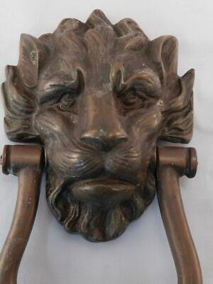 Antique Bronze Lion Head Door Knocker~English Prime Minister~10 Downing Street