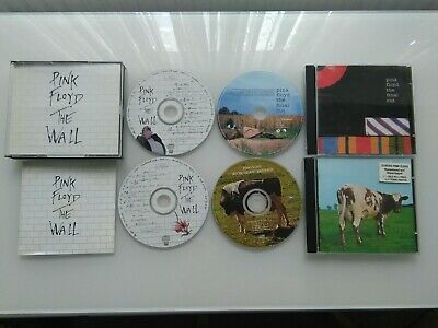 Pink Floyd CD box set The Wall 2CD, Atom Heart Mother 1CD, The Final cut 1CD