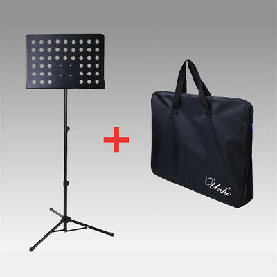 Portable Stand METAL SHEET MUSIC STAND HOLDER FOLDING FOLDABLE WITH BLACK BAG UK