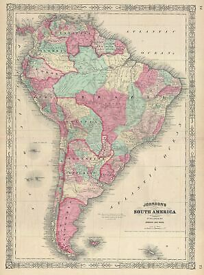 1866 Johnson Map of South America