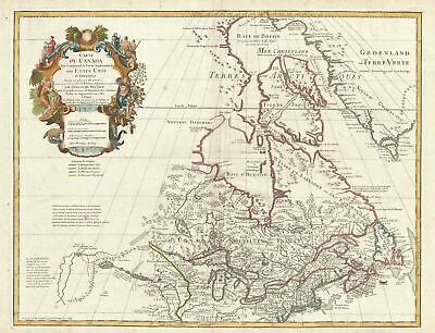 1783 De L'Isle Map of the United States and Canada