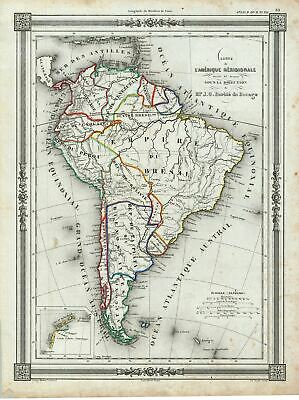 1852 Bocage Map of South America