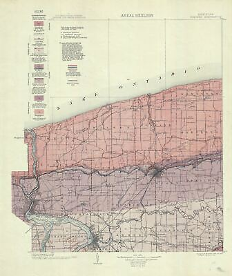 1913 U.S. Geological Survey Areal Geology Map of Niagara County, New York