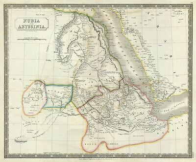 1835 Hall Map of Nubia and Abyssinia (Sudan and Ethiopia)