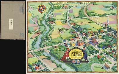 1936 Kieth Ward Map of Simmons Corners (Little Orphan Annie Radio Show)