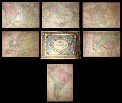 1860 Delamarche Jigsaw Puzzle Atlas of the World