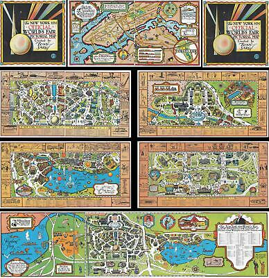 1939 Sarg Pictorial Map of New York World's Fair (Booklet)