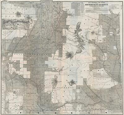 1890 Matthews Northrop Map of Northern Pacific R.R. in Washington and Oregon