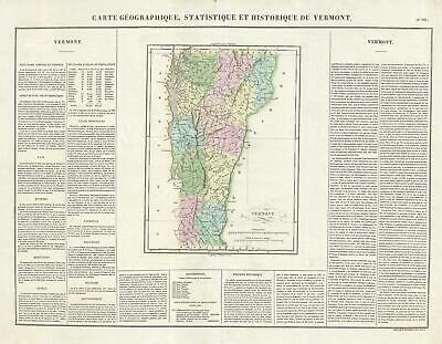 1825 Buchon Map of Vermont