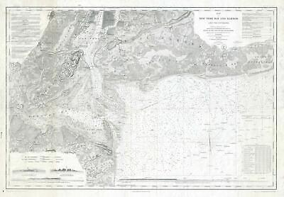1920s U. S. Coast Survey Nautical Chart or Maritime Map of New York Bay