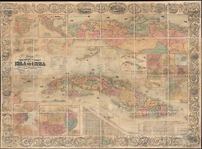1862 Torre / Colton Wall Map of Cuba