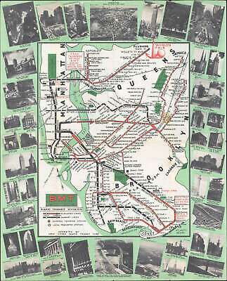 1939 Brooklyn-Manhattan Transit Map of the BMT Subway for the 1939 World's Fair