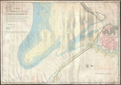 1823 Atkinson Nautical Chart of the Entrance to Portsmouth Harbor, England