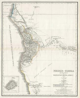 1846 Weiland and Kiepert Map of southwestern Africa