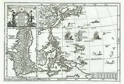 1702 Scherer Map of the Philippine Islands (Philippines) and Guam