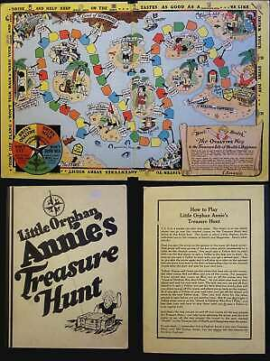 1933 Little Orphan Annie Fantasy Map Board Game of a Treasure Hunt