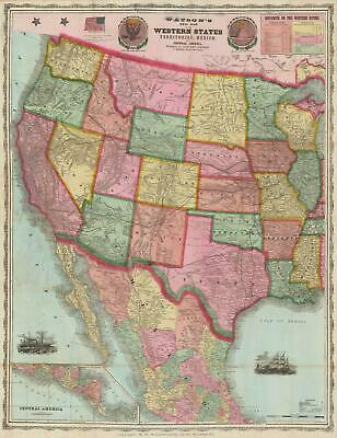1869 Gaylord Watson Map of the Western United States
