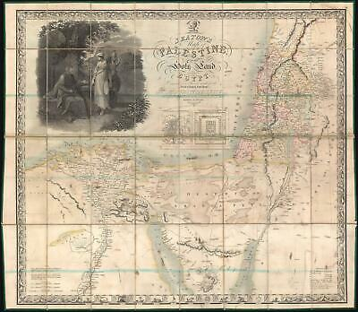 1835 Seaton's Map of the Holy Land: Israel and Palestine