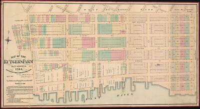 1874 Holmes Map of the Lower East Side and Two Bridges. Manhattan, NYC