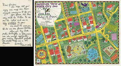 1935 Amos 'n' Andy Pictorial Map of Weber City