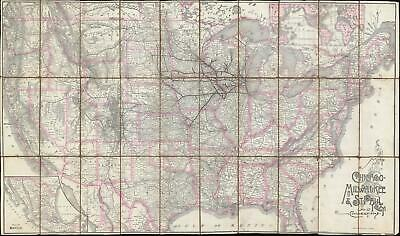 1893 Rand McNally Map of the Chicago, Milwaukee, and St. Paul Railway