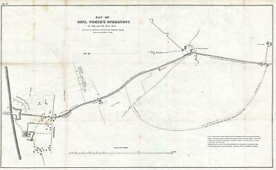 1847 Hardcastle Map of General Worth's Division at the Battle of Churubusco