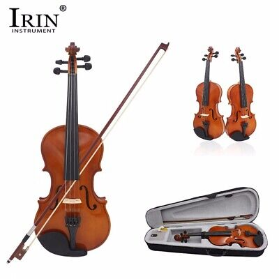 IRIN 4/4 Full Size Natural Acoustic Violin Fiddle Craft Violino With Case