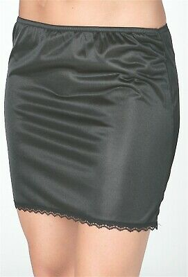 New Ladies' Polyester Demi/Mini Half Slips with Delicate Lace on Hemline