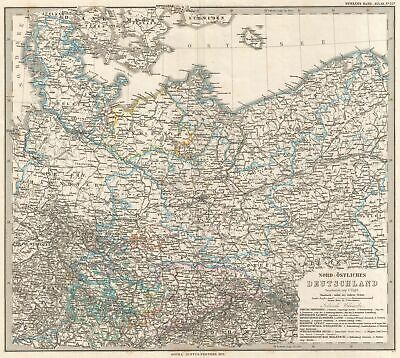 1873 Stieler Map of Prussia and Germany