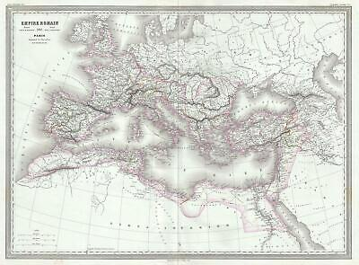 1861 Dufour Map of the Roman Empire