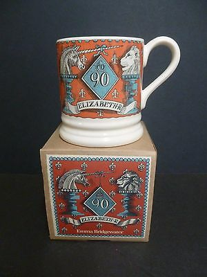 Emma Bridgewater 1/2 Pint Mug Queen's 90Th Birthday Unicorn & Lion Boxed New