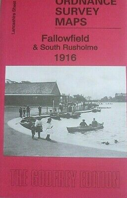 Old Ordnance Survey Maps Fallowfield & South Rusholme Lancs 1916 Godfrey Edition