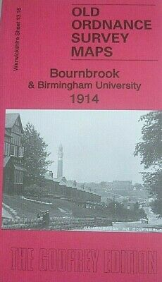 Old Ordnance Survey Maps Bournbrook & Birmingham University  Warwickshire 1914