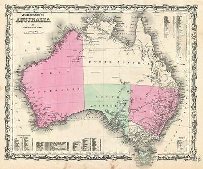 1862 Johnson Map of Australia