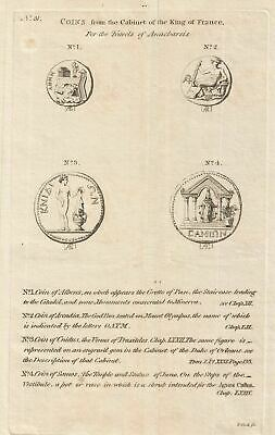 1786 Bocage Chart of Ancient Greek Coins