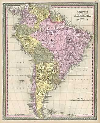 1849 Mitchell Map of South America