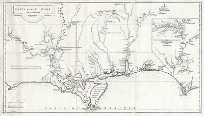 1752 Anville Map of the Gulf Coast and Mississippi River Delta