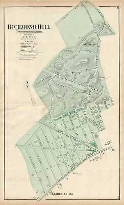 1873 Beers Map of Richmond Hill, Queens, New York City