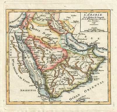 1749 Vaugondy Map of the Middle East