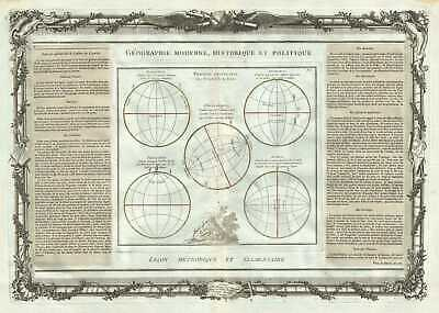 1786 Desnos and de la Tour Map depicting the Distribution of Light on Earth