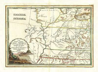 1797 Cassini Map of Middle Atlantic and Midwestern States