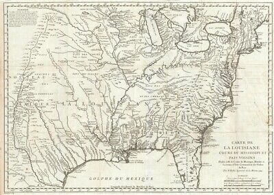 1744 Bellin Map of North America (w/ Florida and New England)