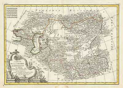 1778 Bonne Map of Central Asia
